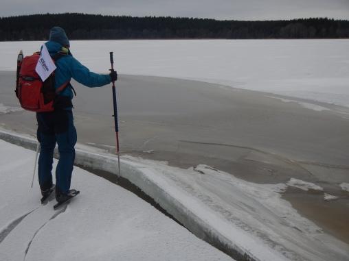 So ein Riss im Eis kann sehr beägstigend aussehen...